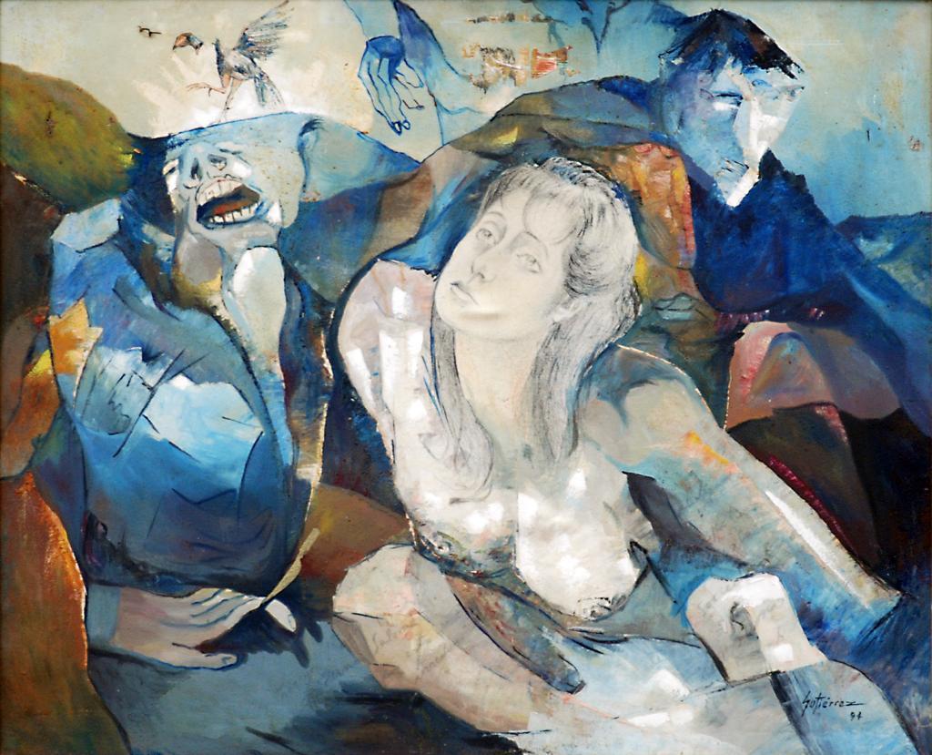 Cuadro de texto: Título: Monumento a Maldonado y Catedral- Riobamba Técnica: óleo sobre tela